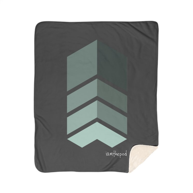 The Monolith Home Sherpa Blanket Blanket by iamthepod's Artist Shop