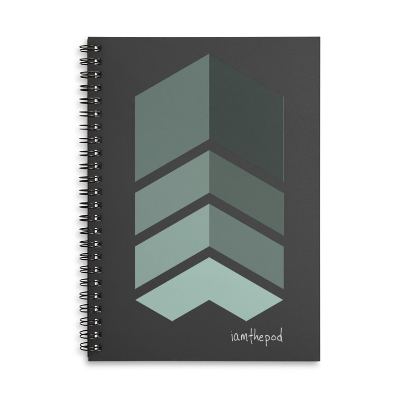 The Monolith Accessories Lined Spiral Notebook by iamthepod's Artist Shop