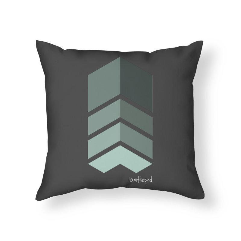 The Monolith Home Throw Pillow by iamthepod's Artist Shop