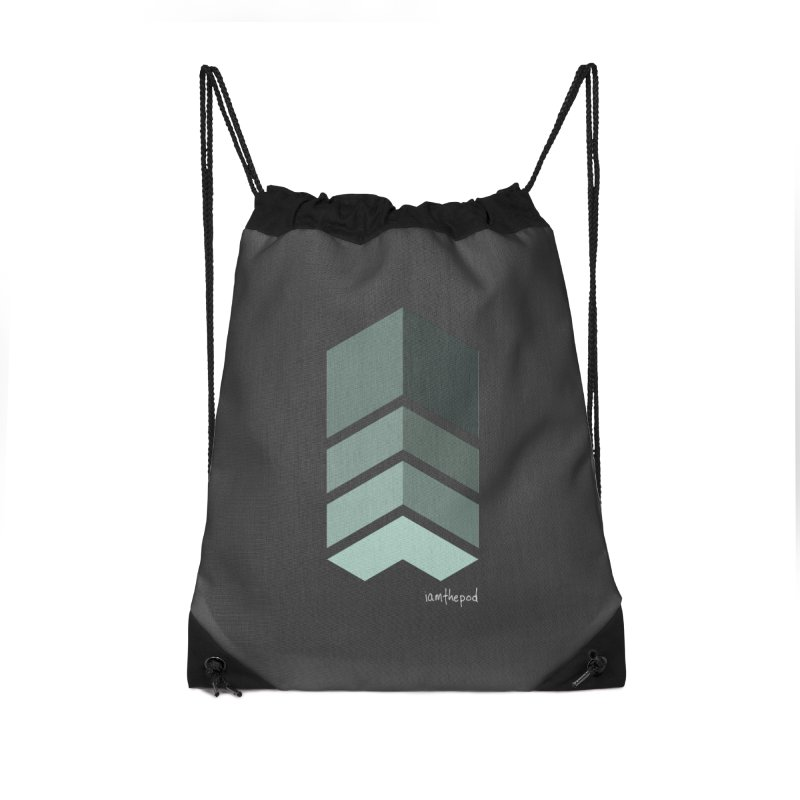 The Monolith Accessories Drawstring Bag Bag by iamthepod's Artist Shop