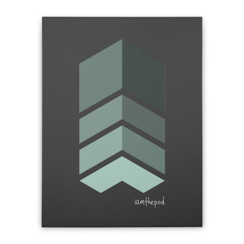 The Monolith Home Stretched Canvas by iamthepod's Artist Shop