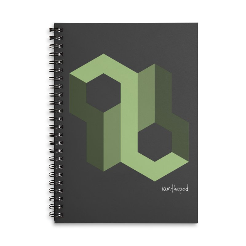 The Loop Accessories Lined Spiral Notebook by iamthepod's Artist Shop