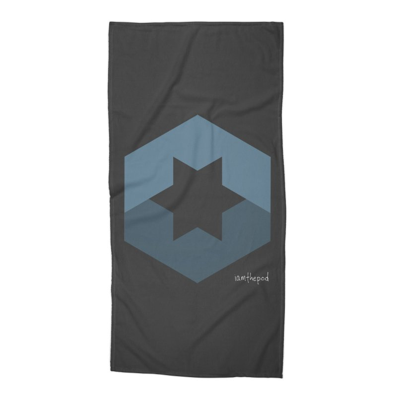 Blue Regime Accessories Beach Towel by iamthepod's Artist Shop