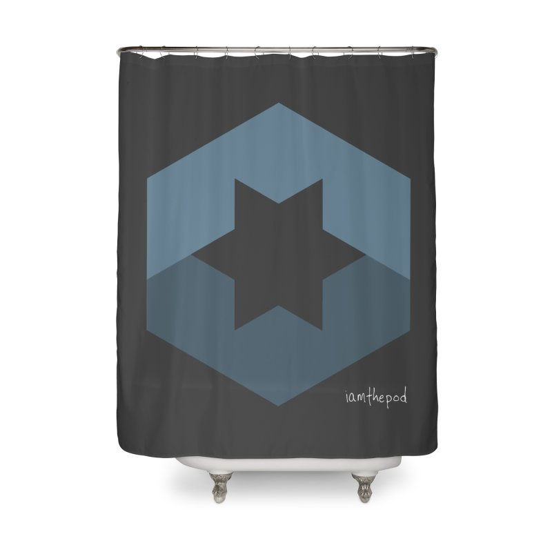 Blue Regime Home Shower Curtain by iamthepod's Artist Shop