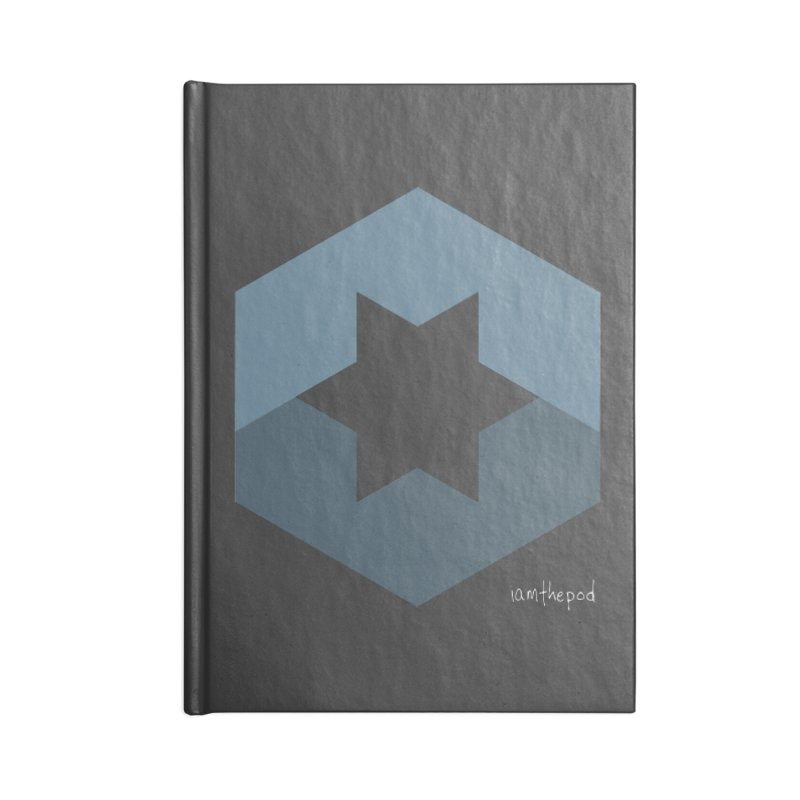 Blue Regime Accessories Lined Journal Notebook by iamthepod's Artist Shop