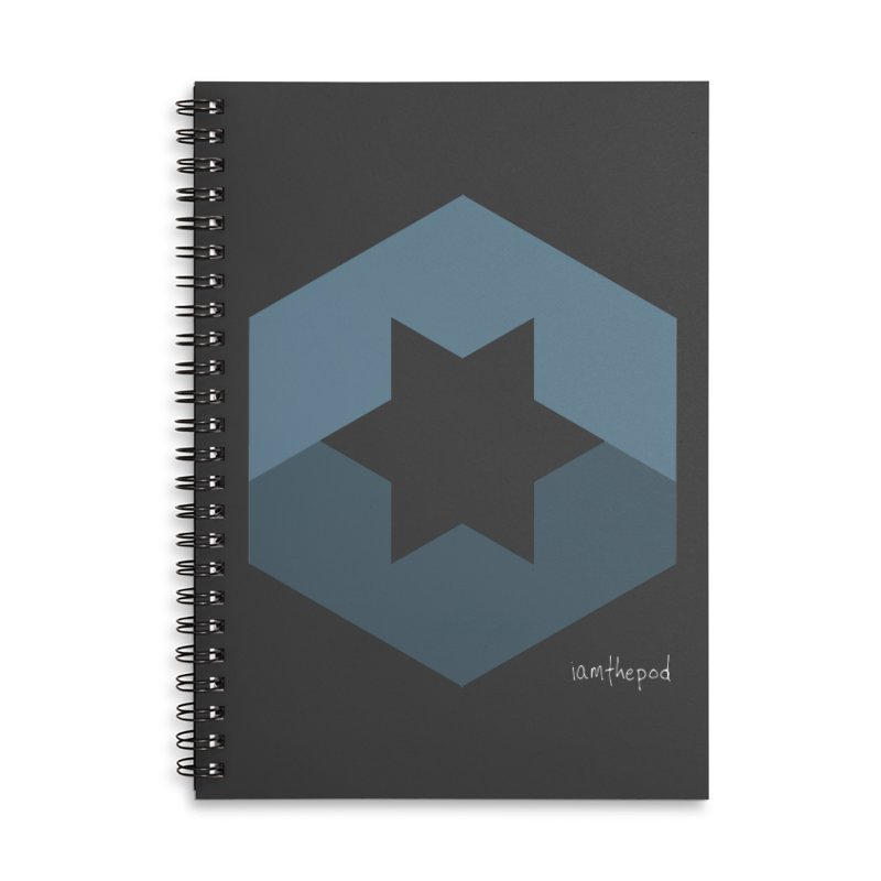 Blue Regime Accessories Lined Spiral Notebook by iamthepod's Artist Shop