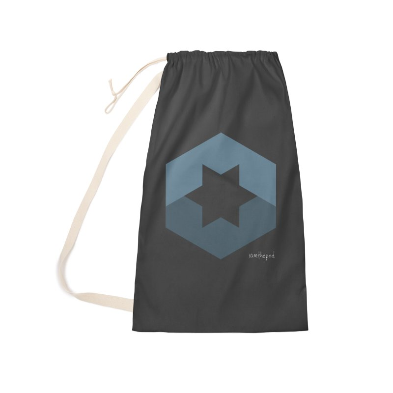 Blue Regime Accessories Laundry Bag Bag by iamthepod's Artist Shop