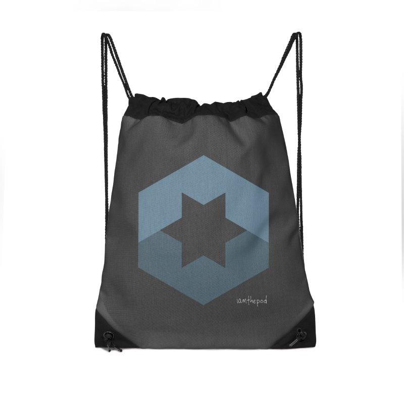 Blue Regime Accessories Drawstring Bag Bag by iamthepod's Artist Shop