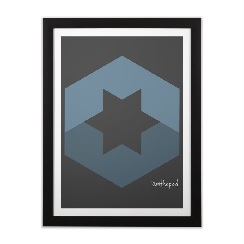 Blue Regime Home Framed Fine Art Print by iamthepod's Artist Shop