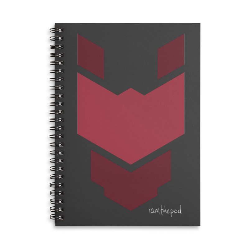 Diablo Corp Accessories Lined Spiral Notebook by iamthepod's Artist Shop
