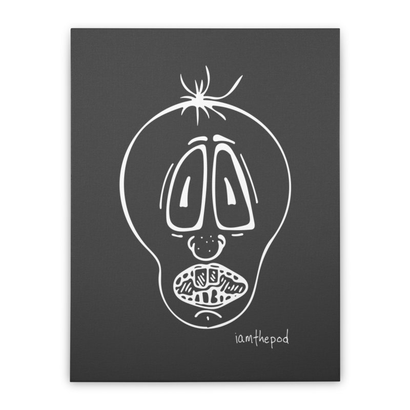 Ugly Face Home Stretched Canvas by iamthepod's Artist Shop