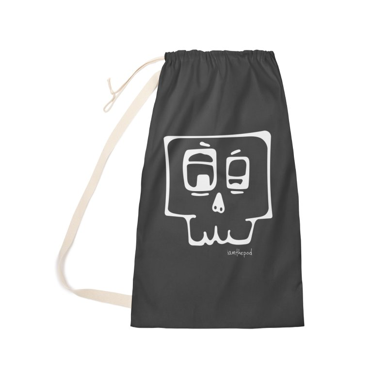 Skull Squared Accessories Laundry Bag Bag by iamthepod's Artist Shop