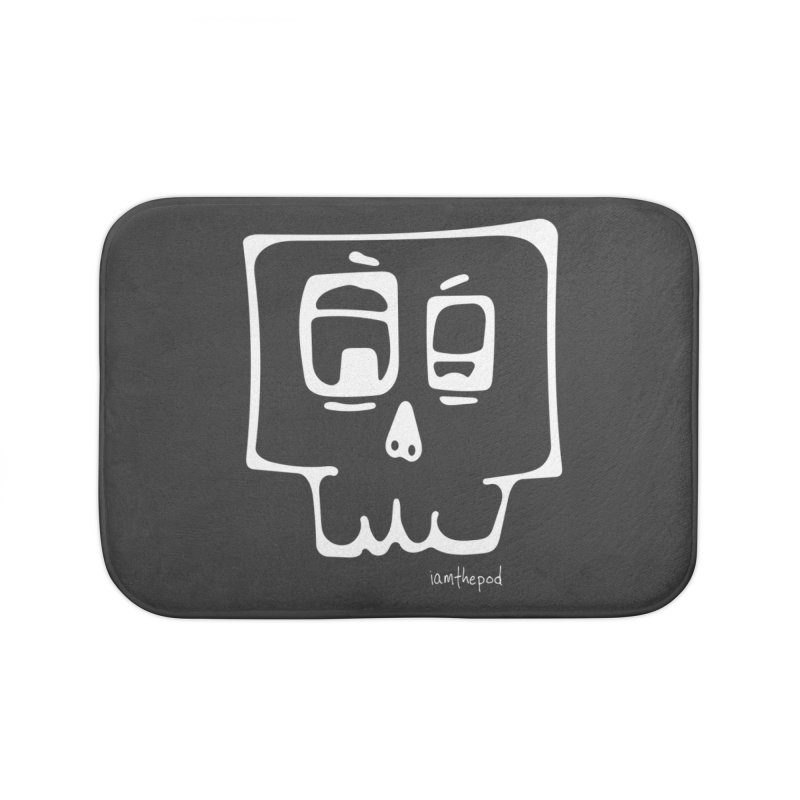 Skull Squared Home Bath Mat by iamthepod's Artist Shop
