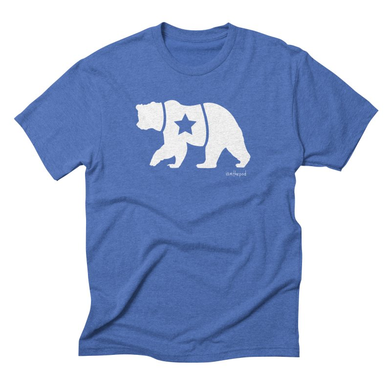 The Disconnected Kingdom: Bear in Men's Triblend T-Shirt Blue Triblend by iamthepod's Artist Shop