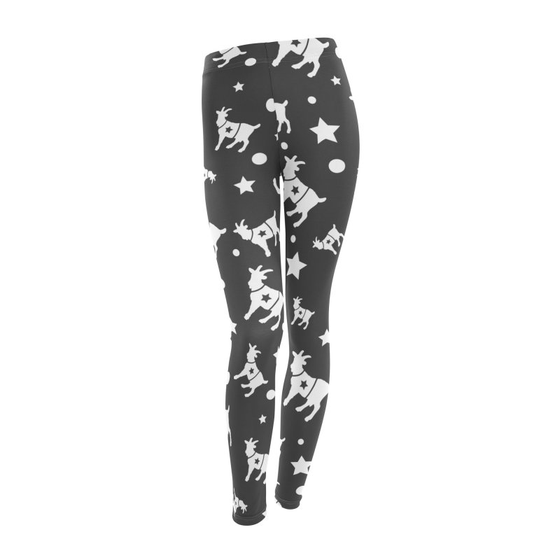 The Disconnected Kingdom: The Goat (In White) Women's Leggings Bottoms by iamthepod's Artist Shop