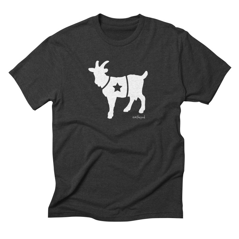 The Disconnected Kingdom: The Goat (In White) in Men's Triblend T-Shirt Heather Onyx by iamthepod's Artist Shop