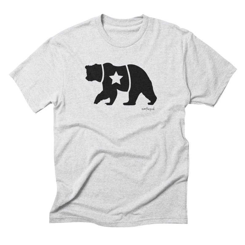 The Disconnected Kingdom: The Bear (In Black) in Men's Triblend T-Shirt Heather White by iamthepod's Artist Shop