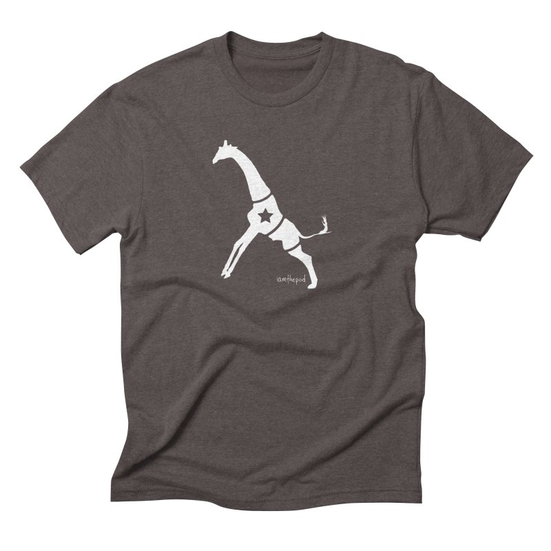 The Disconnected Kingdom: Giraffe in Men's Triblend T-Shirt Tri-Coffee by iamthepod's Artist Shop