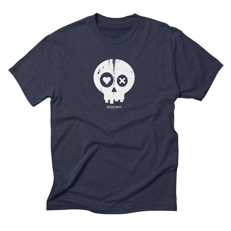 PunchDrunkLoveSkull in Men's Triblend T-Shirt Navy by iamthepod's Artist Shop