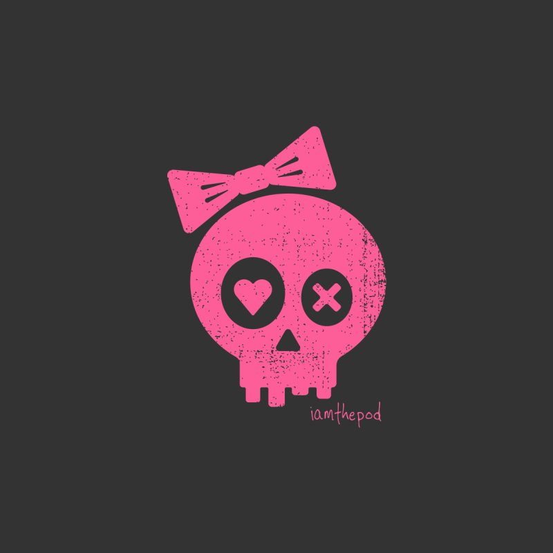 PDLSkull - Female - Pink Women's T-Shirt by iamthepod's Artist Shop