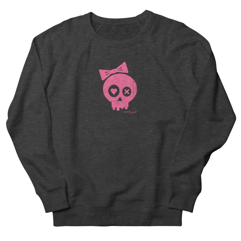 PDLSkull - Female - Pink Women's Sweatshirt by iamthepod's Artist Shop