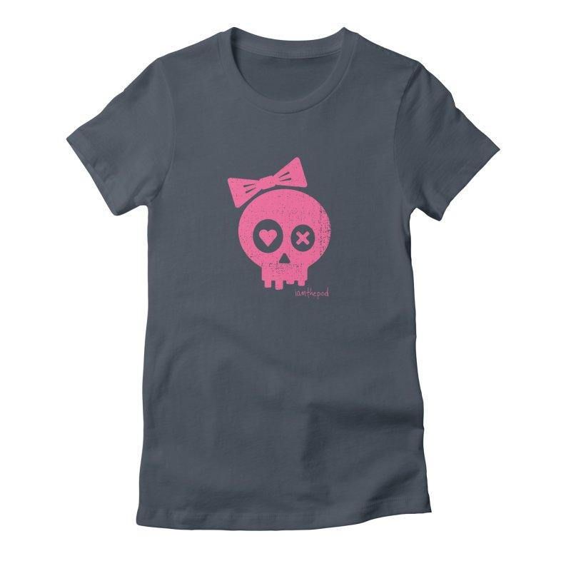 PDLSkull - Female - Pink Women's T-Shirt by iamthepod's Artist Shop