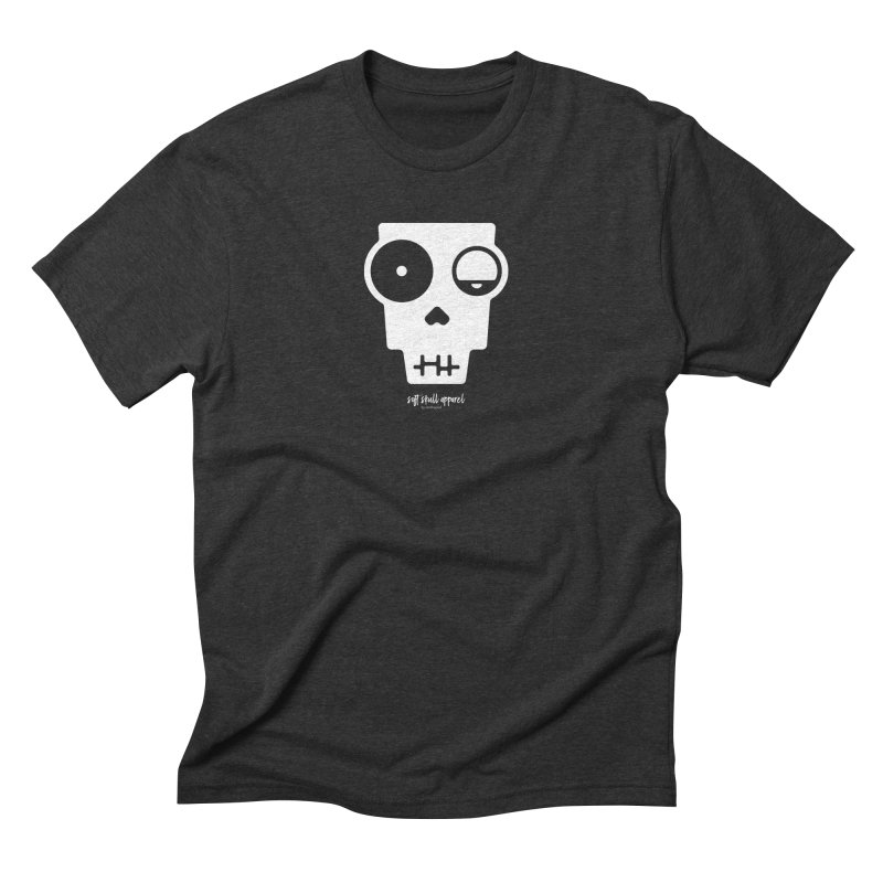 Soft Skull Zombie One in Men's Triblend T-Shirt Heather Onyx by iamthepod's Artist Shop