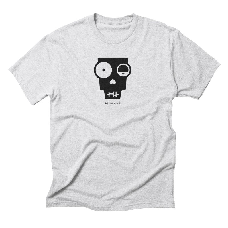 Soft Skull Zombie One in Black in Men's Triblend T-Shirt Heather White by iamthepod's Artist Shop