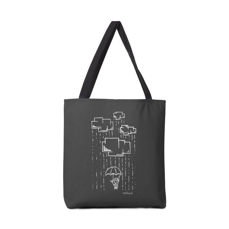 Rain Down Accessories Tote Bag Bag by iamthepod's Artist Shop