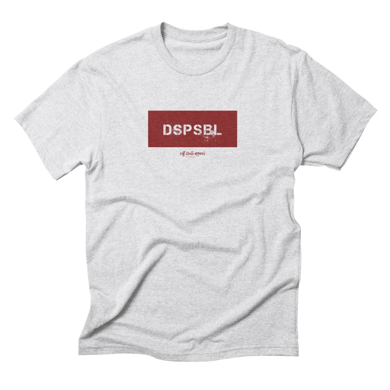 DSPSBL - Blood in Men's Triblend T-Shirt Heather White by iamthepod's Artist Shop