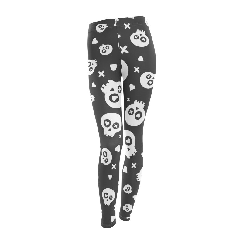 PunchDrunkLoveSkull - Clean Women's Leggings Bottoms by iamthepod's Artist Shop