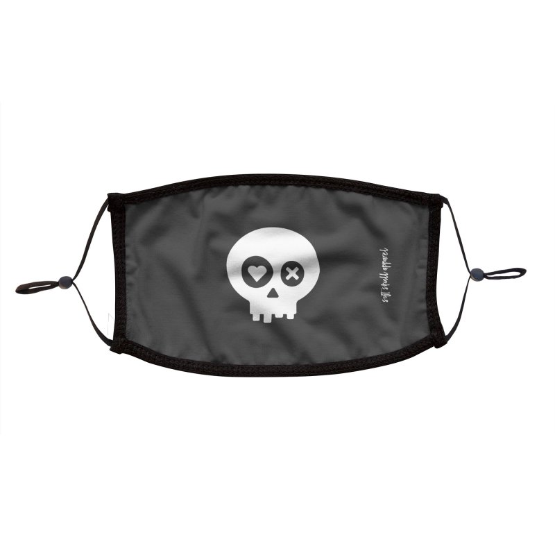 PunchDrunkLoveSkull - Clean Accessories Face Mask by iamthepod's Artist Shop