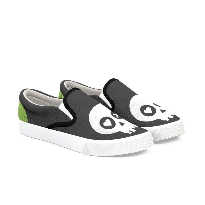 PunchDrunkLoveSkull - Clean Women's Slip-On Shoes by iamthepod's Artist Shop