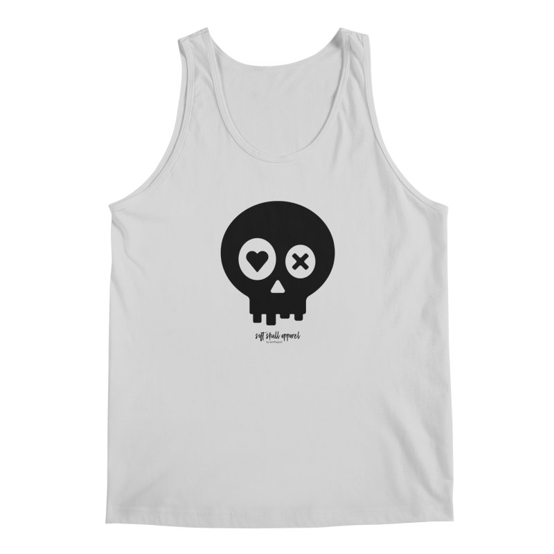 Punch Drunk Love Skull - Clean - In Black Men's Regular Tank by iamthepod's Artist Shop