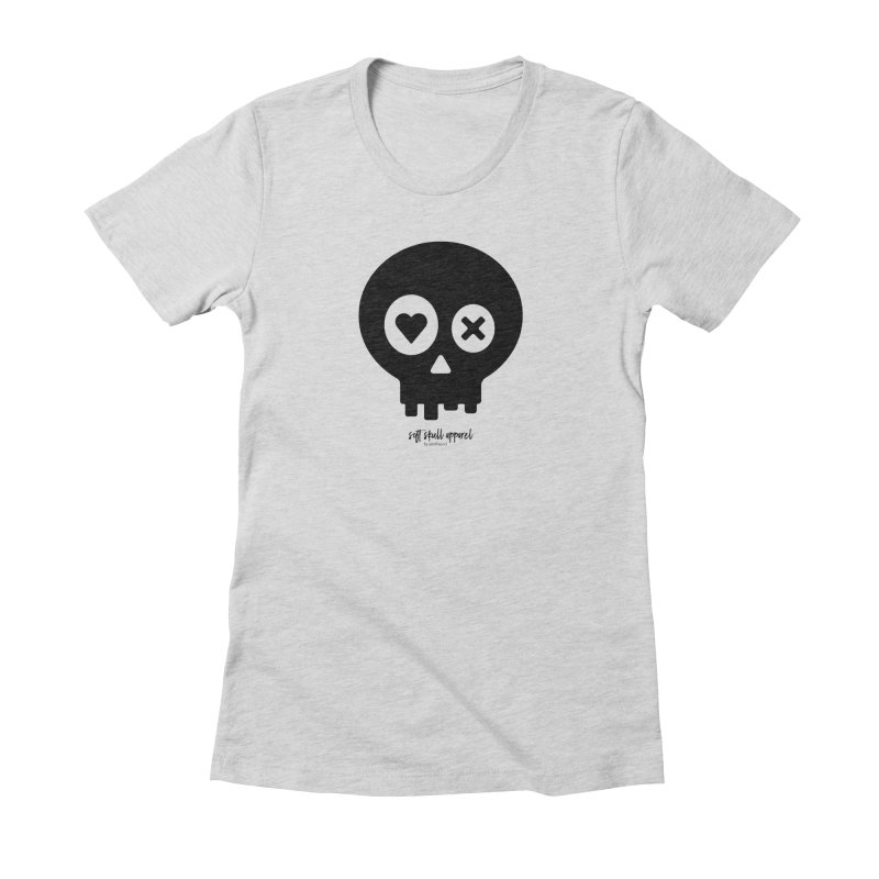 Punch Drunk Love Skull - Clean - In Black Women's Fitted T-Shirt by iamthepod's Artist Shop