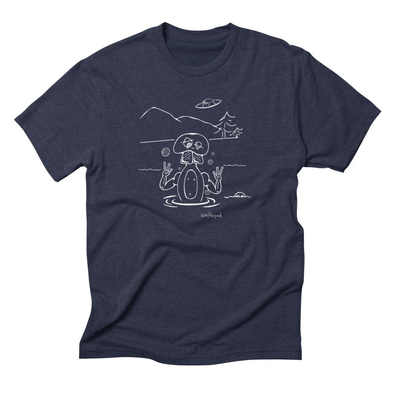 Alien Bath in Men's Triblend T-Shirt Navy by iamthepod's Artist Shop