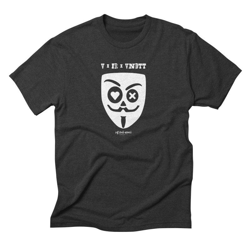 PDLS x V x FR x VNDTT in Men's Triblend T-Shirt Heather Onyx by iamthepod's Artist Shop