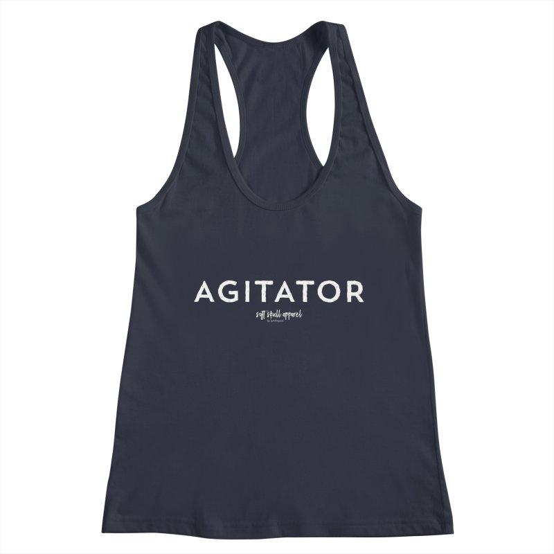 Agitator Women's Racerback Tank by iamthepod's Artist Shop
