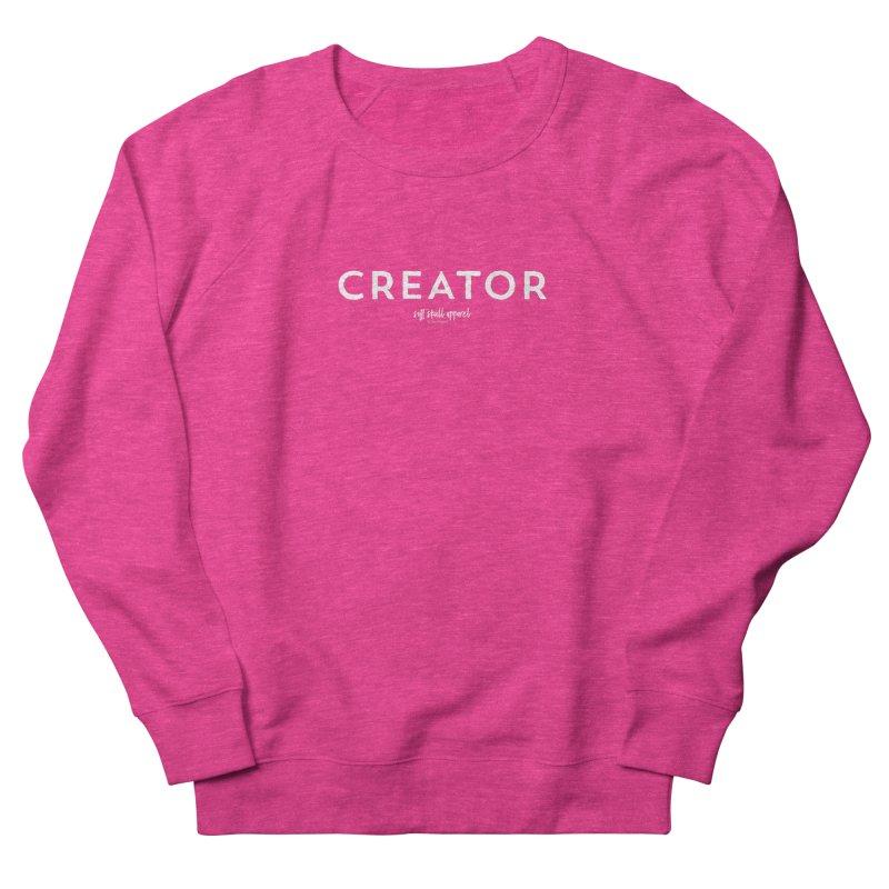 Creator Women's French Terry Sweatshirt by iamthepod's Artist Shop