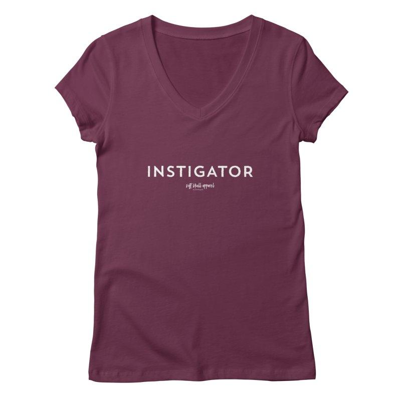 Instigator Women's Regular V-Neck by iamthepod's Artist Shop