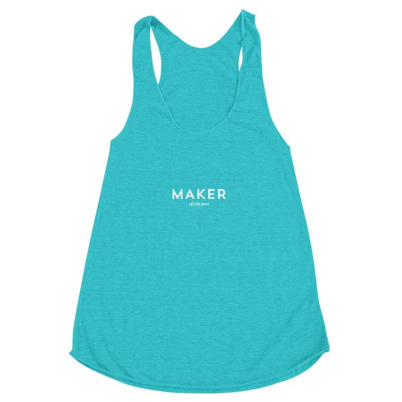 Maker Women's Racerback Triblend Tank by iamthepod's Artist Shop