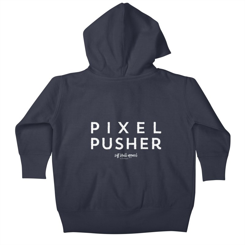 Pixel Pusher Kids Baby Zip-Up Hoody by iamthepod's Artist Shop