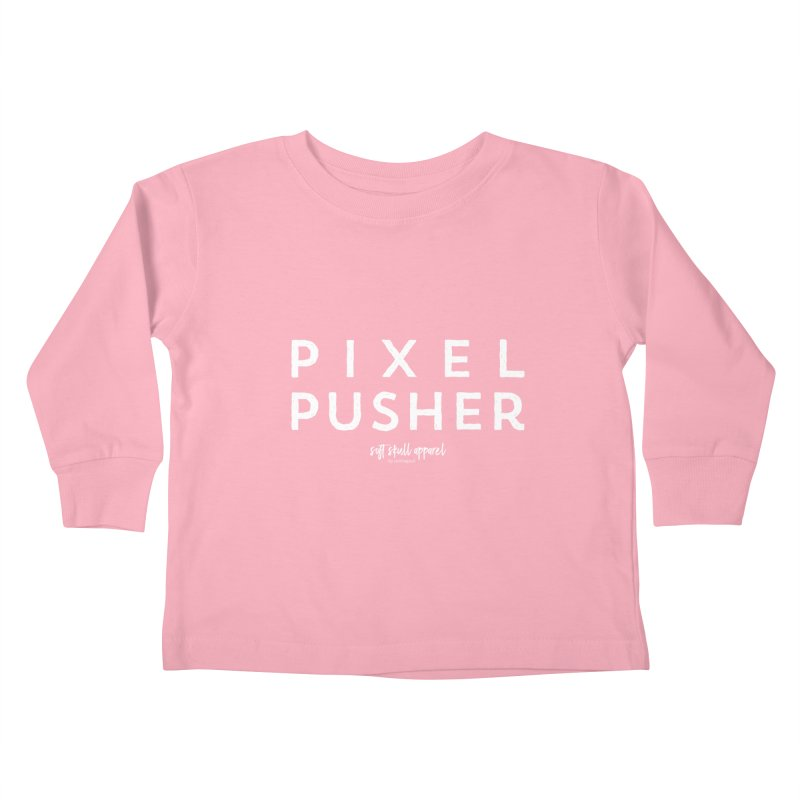 Pixel Pusher Kids Toddler Longsleeve T-Shirt by iamthepod's Artist Shop