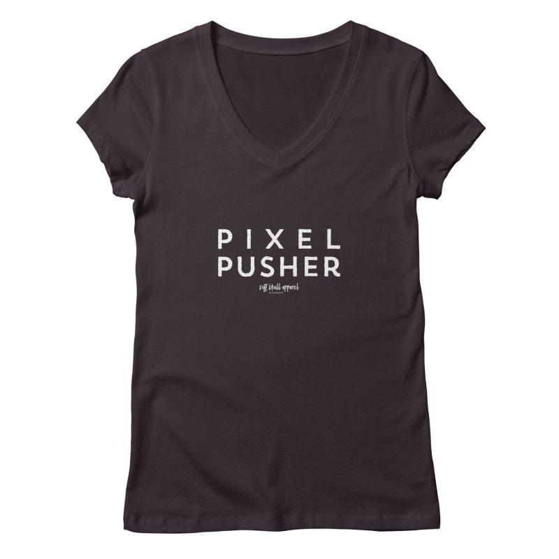 Pixel Pusher Women's Regular V-Neck by iamthepod's Artist Shop