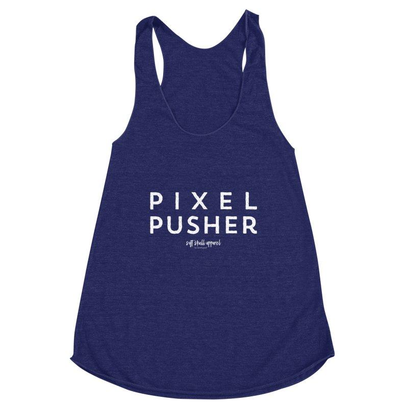 Pixel Pusher Women's Racerback Triblend Tank by iamthepod's Artist Shop