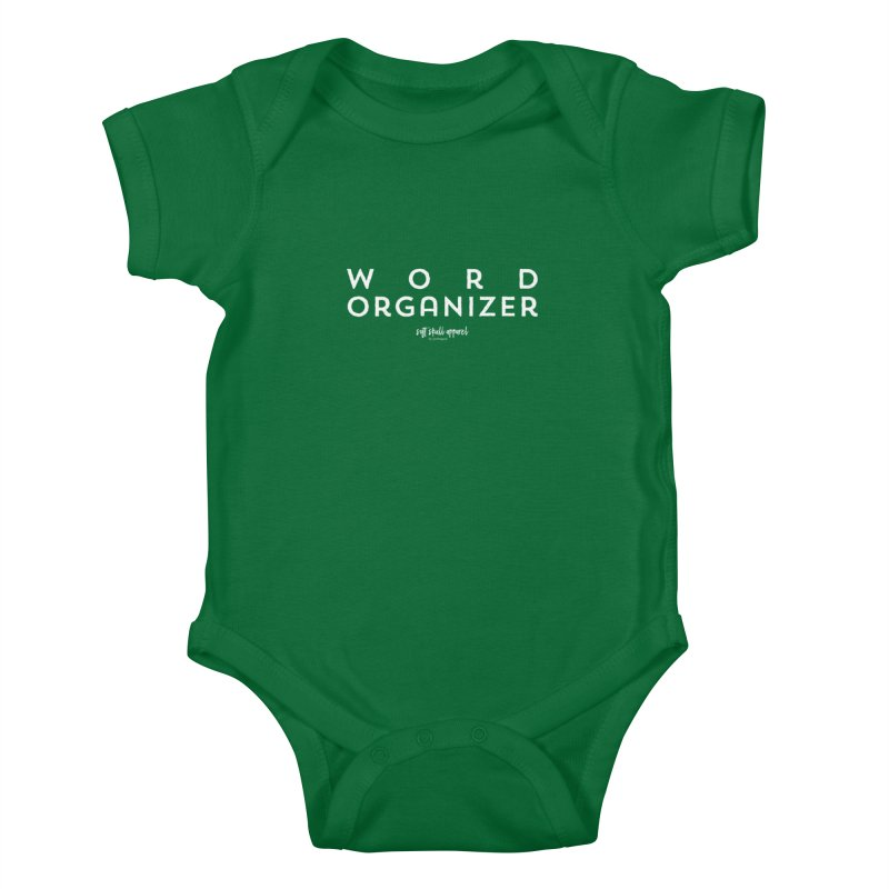 Word Organizer Kids Baby Bodysuit by iamthepod's Artist Shop