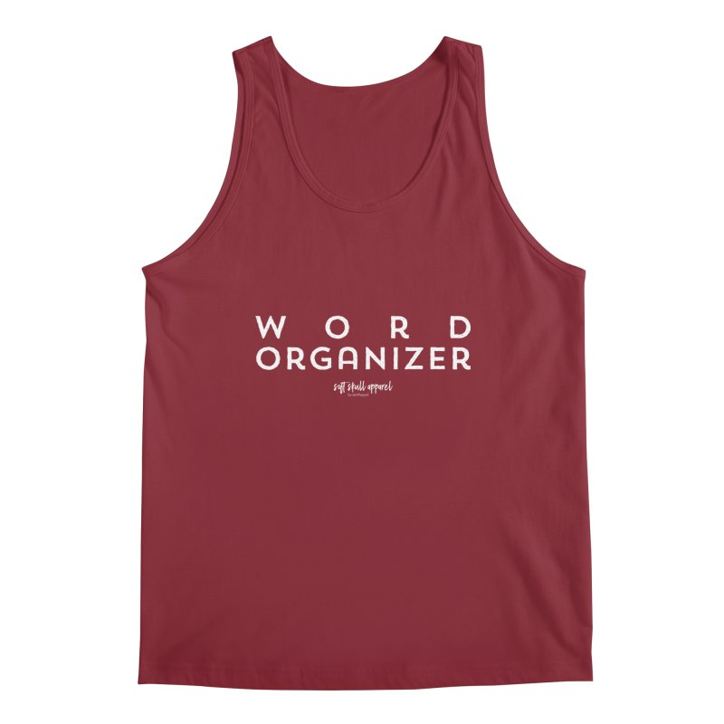 Word Organizer Men's Regular Tank by iamthepod's Artist Shop