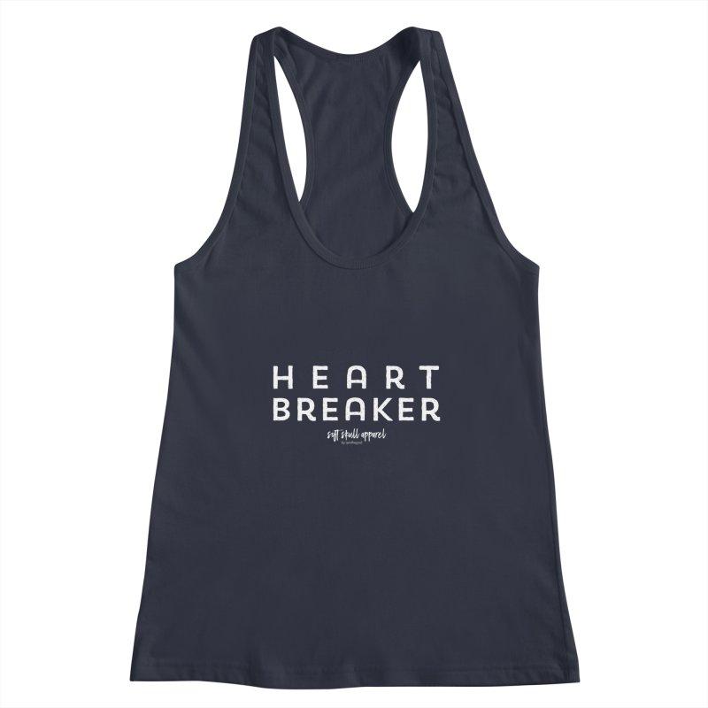Heart Breaker Women's Racerback Tank by iamthepod's Artist Shop