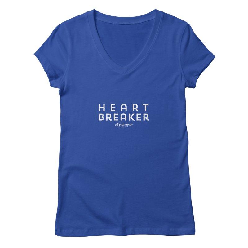 Heart Breaker Women's Regular V-Neck by iamthepod's Artist Shop