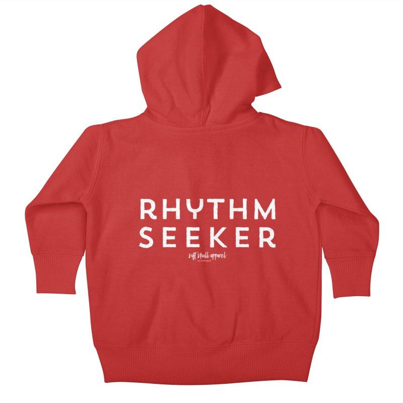Rhythm Seeker Kids Baby Zip-Up Hoody by iamthepod's Artist Shop